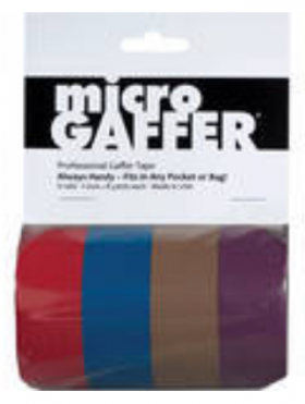 Micro Gaffer 4 Pack Red, Blue, Brown, Purple